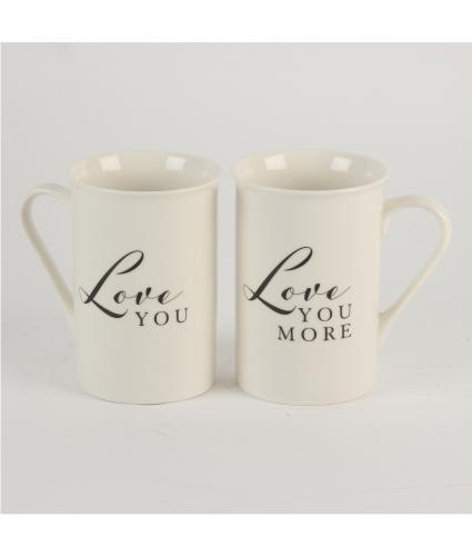 Loved You and Love You More Mugs, Wedding Gift, Cancer Research UK