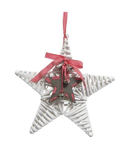 White Willow Star Decoration