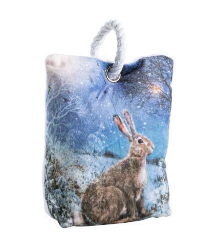 Winter Hare Pre-lit Doorstop