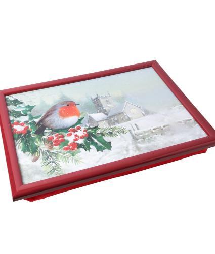Winter Robin Lap Tray