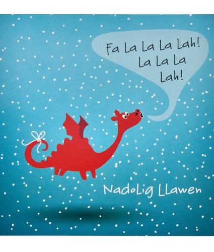 Winter Welsh Dragon Christmas Cards - Pack of 10