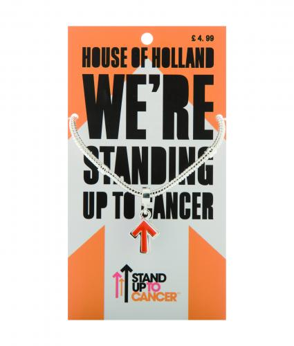 Stand Up To Cancer Henry Holland Silver Bracelet and Orange Charm