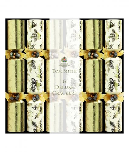 Gold and cream luxury crackers, cancer research uk