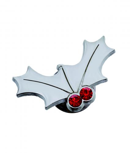 cancer research uk holly Pin Badge