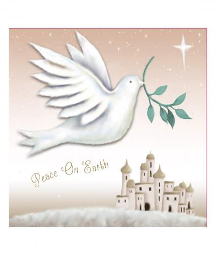 peace on earth cancer research uk christmas card