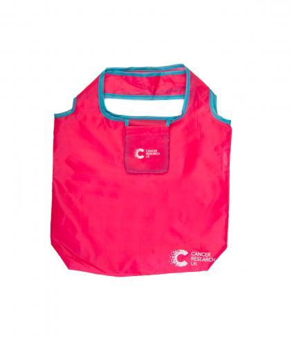 Cancer Research UK Foldaway Bag Pink