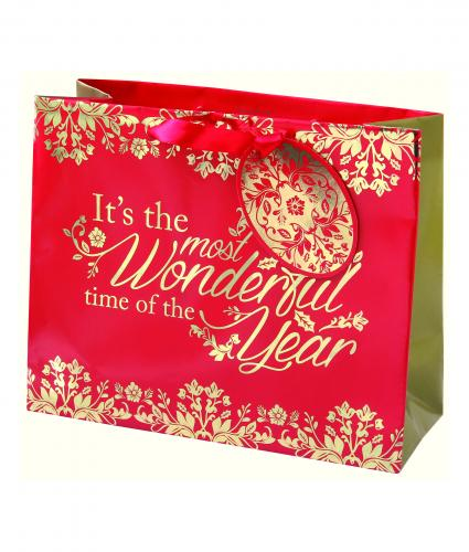 Rich Traditions Medium Bag Cancer Research uk Christmas Bag