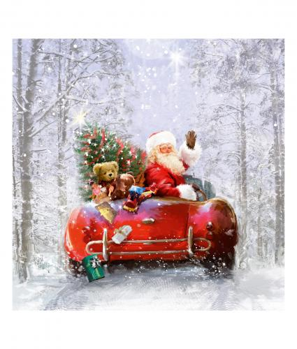 santa off to deliver cancer research uk christmas card