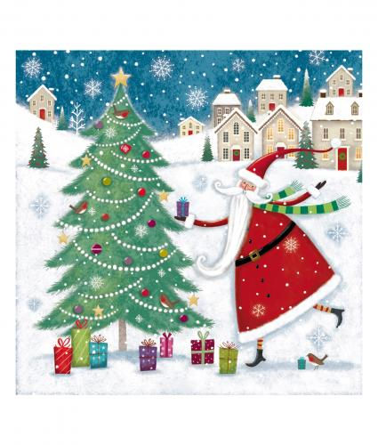 santa and tree cancer research uk christmas card