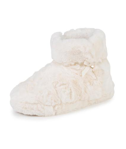 totes Fluffy Booties in Cream