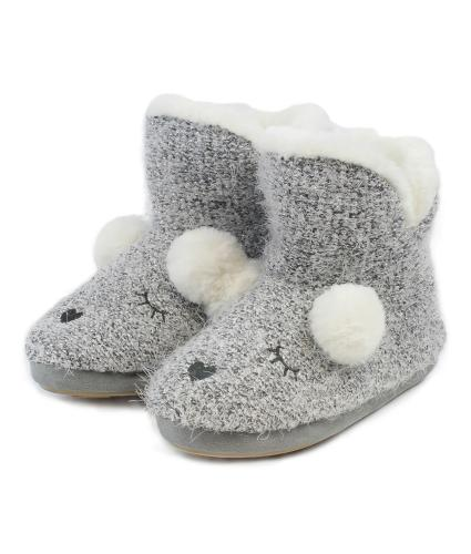 totes Novelty Bootie Slippers in Silver