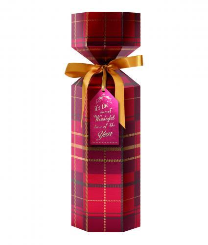 Luxury Bottle Box Trad Tartan cancer research uk