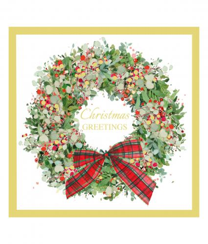 wreath at christmas cancer research uk christmas card