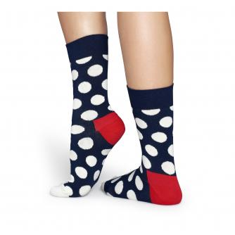 Happy Socks Big Dot Navy & White Socks