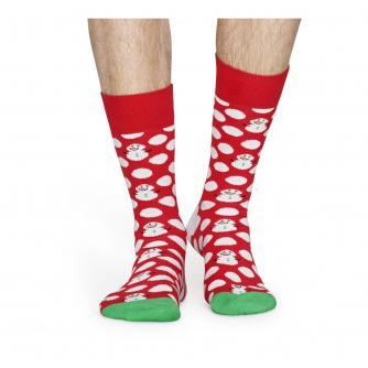 Happy Socks Big Dot Snowman Socks