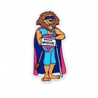 Brave Lion Warrior Pin Badge