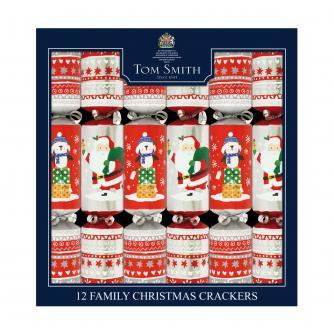 Tom Smith 12 Fun Family Christmas Crackers