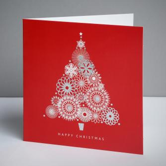 Abstract Tree Christmas Cards, Pack of 20