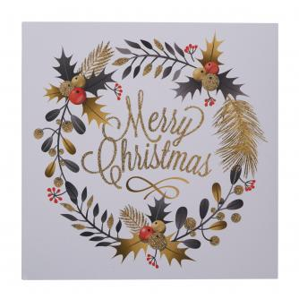 Gold Wreath Christmas Cards - Pack of 10