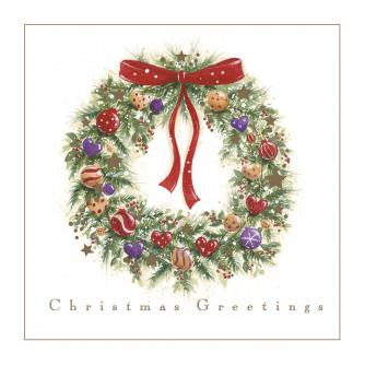 Decorative Wreath Christmas Cards - Pack of 10