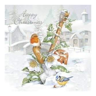 Winter in the Garden Christmas Cards - Pack of 10
