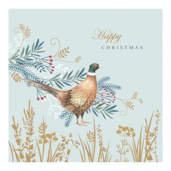 Winter Pheasant Christmas Cards - Pack of 10