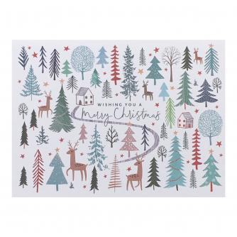 Winter Duo Christmas Cards - Pack of 16