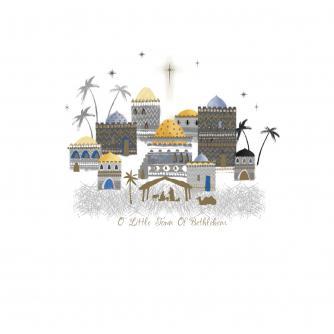 Bethlehem Scene Christmas Cards - Pack of 10