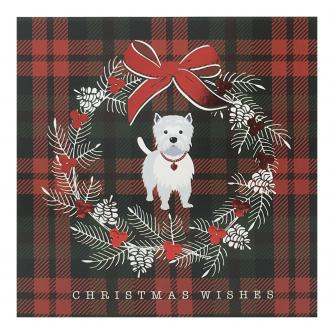 Westie Wreath Christmas Cards - Pack of 10