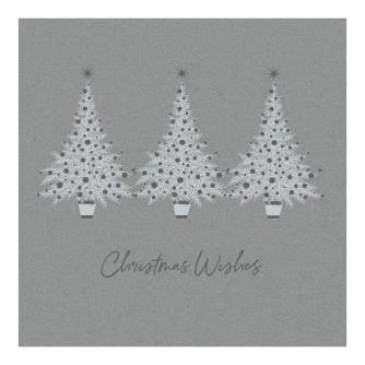 Silver Tree Trio Christmas Cards - Pack of 20