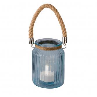 Blue Glass Rope Lantern