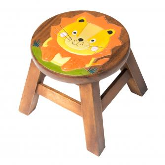 Lion Wooden Stool