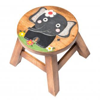 Kids Elephant Wooden Stool