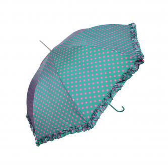 Green Polka Dot Frill Walker Umbrella, Home & Accessories, Cancer Research UK
