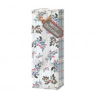 Contemporary Foliage Bottle Gift Bag