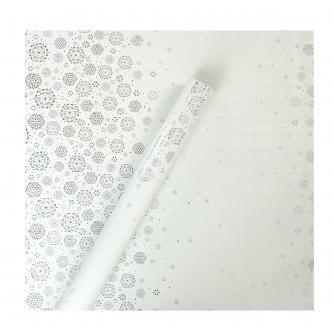 Tom Smith White snowflake Sparkle Wrapping Paper