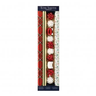 Tom Smith Festive Foliage Gift Wrap Pack