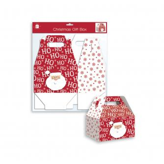 Ho Ho Ho Santa Folding Gift Box - Small