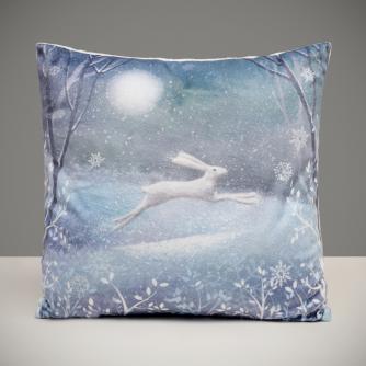 Moonlit Hare Cushion
