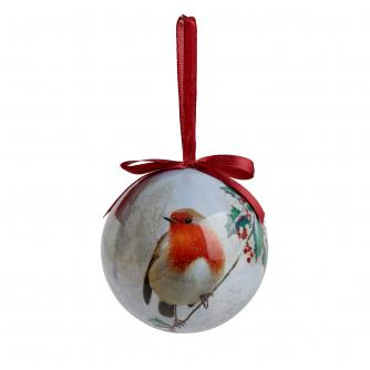 Robin Decoupage Bauble