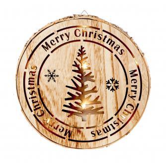 LED Wooden Christmas Tree Scene Light