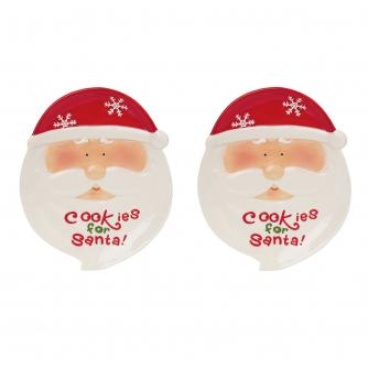 Jolly Santa Cookie Plate Set