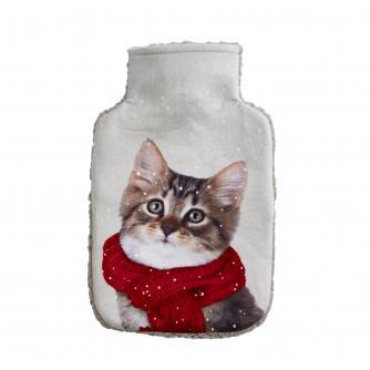 Winter Cat Hot Water Bottle