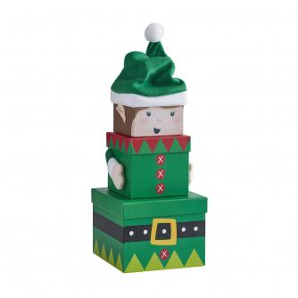 Nested Christmas Gift Boxes - Elf