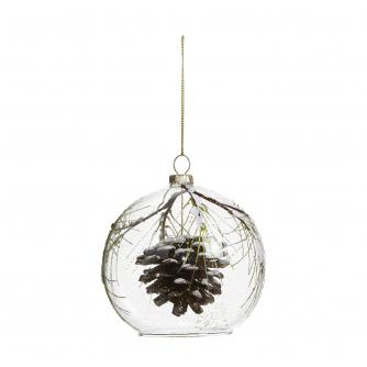 Glass Pine Cone Pair of Baubles