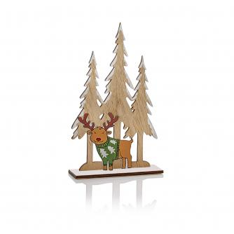 Wooden Table Decoration - Reindeer