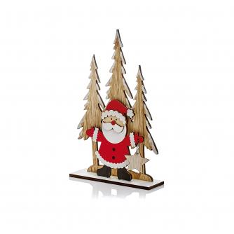 Wooden Table Decoration - Santa
