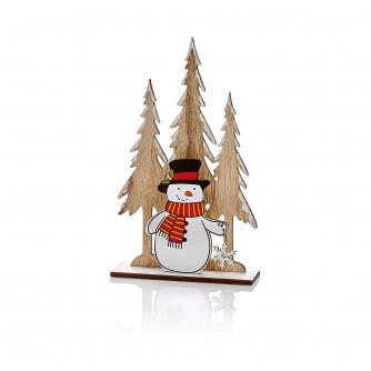 Wooden Table Decoration - Snowman