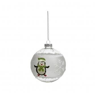 Glass Character Baubles - Penguin