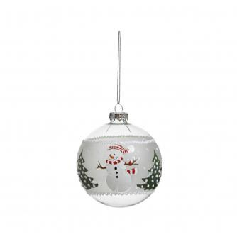 Glass Character Baubles - Snowman